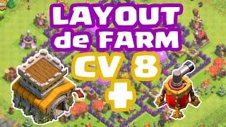 getlinkyoutube.com-Clash Of Clans - Melhor Layout de Farm para CV8 com Air Sweeper (Town Hall 8 Farming Base)