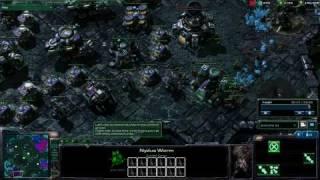getlinkyoutube.com-Starcraft 2: Nydus Worm + Zerglings = Love