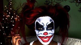 getlinkyoutube.com-Halloween Makeup Scary Clown