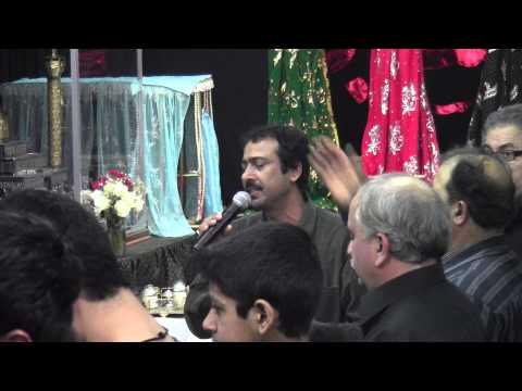 Sarfaraz Hussain (Anjumane Masoomia) Reciting Noha on 1/13/13