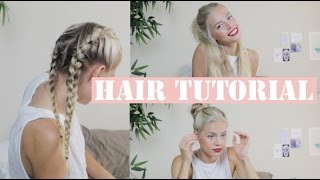 getlinkyoutube.com-3 Easy Hairstyles - Tutorials