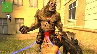 getlinkyoutube.com-Counter Strike Source Zombie Horde mod Zombie Horror Boss fight Online Gameplay on 3rdstreet map