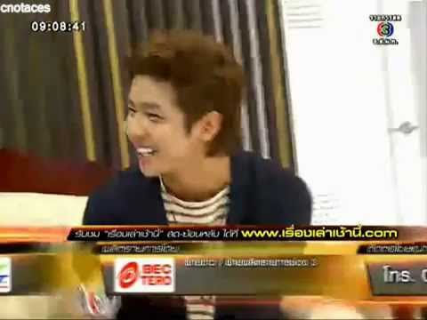 [130329][MorningNews][cnotaces]SJ Kibum sing Thai song 'KhobKhunTheeRakGun' #meetKimKibumSJ