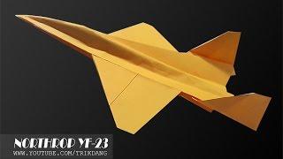 getlinkyoutube.com-Best Paper Planes: How to make a paper airplane that Flies   YF-23 Black Widow