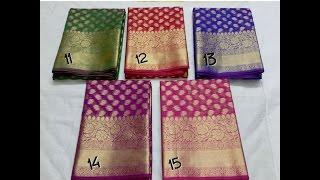 getlinkyoutube.com-latest designer banarasi silk sarees with price/fashion9tv/price:1850 /-