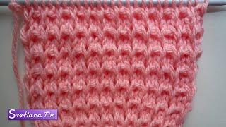 getlinkyoutube.com-Плотный Узор спицами. Вязание на спицах # 239