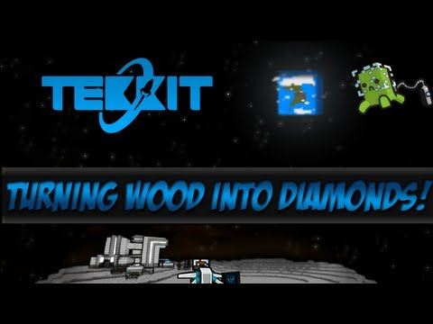 New Tekkit Ep.6 - Turning Wood Into Diamonds [Minecraft 1.5.1]