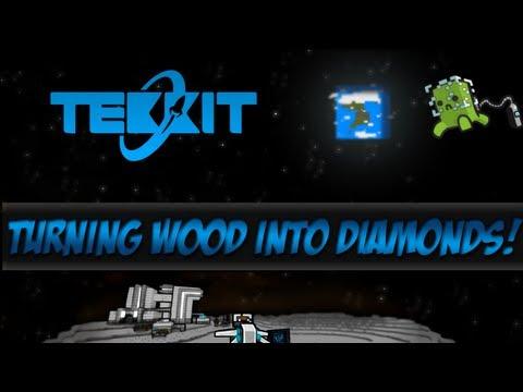 New Tekkit Ep.6 - Turning Wood Into Diamonds [Minecraft 1.5.1]