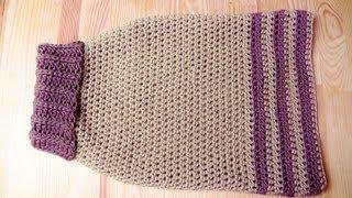 getlinkyoutube.com-Doggy sweater crochet tutorial - Woolpedia