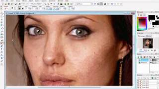 getlinkyoutube.com-How to do a Makeover on Paint Shop Pro - Part 1 - Perfecting the Skin