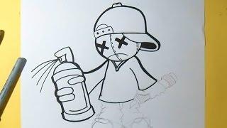 getlinkyoutube.com-cómo dibujar un niño con gorra Graffiti   Wizard art -   ZaXx