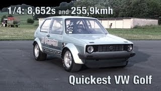 getlinkyoutube.com-16Vampir VW Golf MK1 1000HP 4Motion new VW Golf world record!