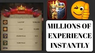 getlinkyoutube.com-SUPER EXPERIENCE TRICK, MILLIONS INSTANTLY!!! (CLASH OF KINGS TIPS AND TRICKS)