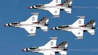 getlinkyoutube.com-Thunderbirds USAF Display Team at RAF Waddington 2011 With Radio Coms - Airshow World