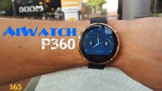 getlinkyoutube.com-AiWatch P360, el smartwatch que nos mide el ritmo cardíaco. Unbox y  Review (Clon Moto 360)