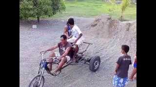 getlinkyoutube.com-My Homemade DIY Trike go kart Test Drive (philippines)