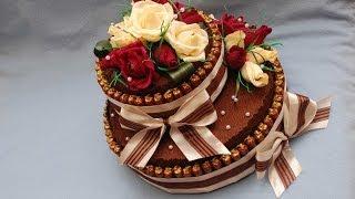 getlinkyoutube.com-Торт из конфет своими руками. Мастер-класс. DIY Cake of sweets