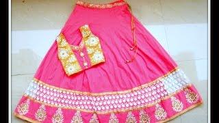 getlinkyoutube.com-RECYCLING ANARKALI DRESS TO ANARKALI LEHENGA CHOLI / GHAGARA CHOLI