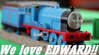 getlinkyoutube.com-Thomas & Friends Characters: Meet Talking Edward Trackmaster Engine