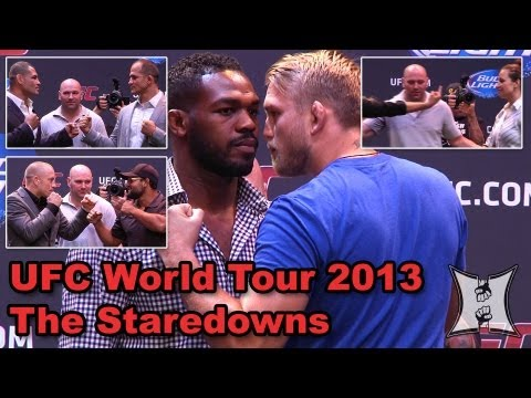 UFC World Tour 2013 Staredowns: Rousey/Tate, GSP/Hendricks, Velasquez/JDS + Jones/Gustafsson