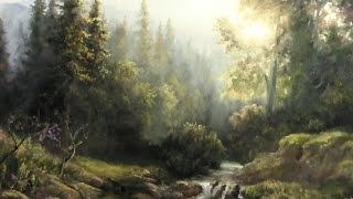 getlinkyoutube.com-Forest Sunlight | Landscape Painting Demo