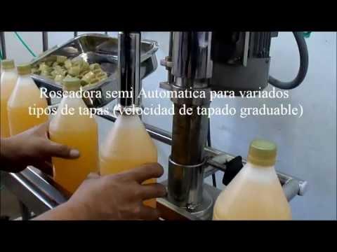 Máquina envasadora (llenadora) de líquidos 06 valvulas con roscadora LIMA PERU