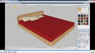 getlinkyoutube.com-Dựng nhanh mẫu giường đơn giản trong SketchUp.
