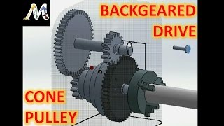 getlinkyoutube.com-Cone Pulley and Back Geared Drive   Explained