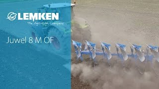 The LEMKEN plough Juwel 8 M OF ploughing with a CLAAS Axion 950