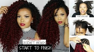 💁HOW TO | CROCHET BRAIDS ON NATURAL HAIR ↪ START TO FINISH! ZURY HOLLYWOOD WAVE BRAID | TASTEPINK