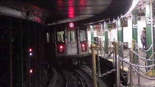 getlinkyoutube.com-NYC Subway HD 60 FPS: R62A 1 Trains & R142 2 Trains @ South Ferry Loop (1/22/17)