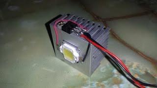 getlinkyoutube.com-How to make a very cheap & easy 12V 10W LED Light at home