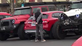 Karma when two jeeps block in a car that takes up two spaces