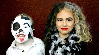 Cruella De Vil and Dalmatian Puppy Makeup Costume Tutorial