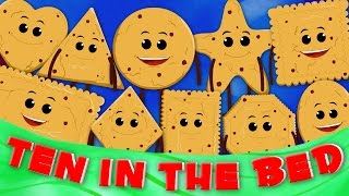 getlinkyoutube.com-Ten in the bed | nursery rhymes for children | cookie song | baby videos