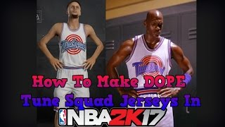 How To Make Tune Squad Jerseys In NBA 2K17 MyTeam! Space Jam Jersey Tutorial - NBA 2K17 MyTeam
