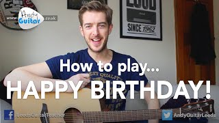 getlinkyoutube.com-Happy Birthday EASY Guitar Tutorial (How to play)