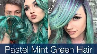 getlinkyoutube.com-Pastel Mint Green Hair