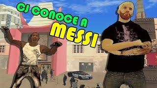 getlinkyoutube.com-CJ conoce a MESSI - GTA SA LOQUENDO - (ESPECIAL 4000 SUBS)