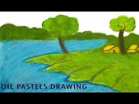 Download Thumbnail For How To Draw A Village Scenery Step Easy How