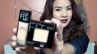 getlinkyoutube.com-NEW Maybelline Fit Me Matte +Poreless DEMO | makeupfreeek