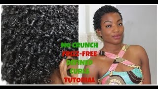 getlinkyoutube.com-Type 4 Natural Hair| TWA Styles| No Crunch, Frizz-Free, Defined Curls/Coils Tutorial!