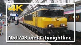 getlinkyoutube.com-[4k / 2160p video] NS1748 met leeg materieel Citynightline op Amsterdam Centraal!