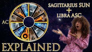 ☉ Sun in Sagittarius + Libra Asc (rising sign) HD