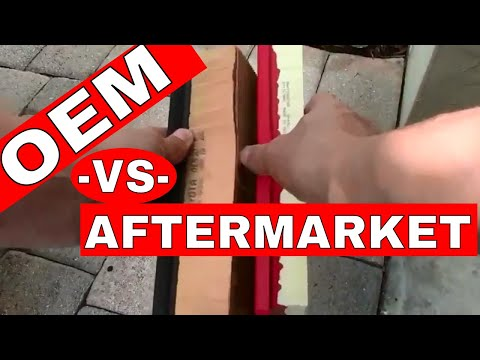 OEM vs Aftermarket-- Engine Air Filter Change-- Toyota Highlander