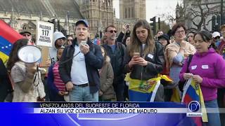 Venezolanos en el Suroeste de Florida protestan por un cambio de gobierno en su país