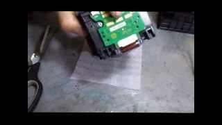 getlinkyoutube.com-Bulk HP 8100 8600 - Bloqueio de sensor com papel aluminio