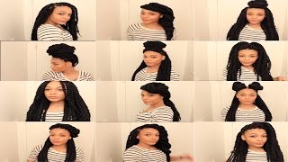 getlinkyoutube.com-13 Easy Havana/Marley Twists Hairstyles || TheNotoriousKIA