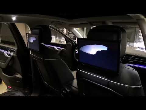 Мониторы подвесные на подголовник Parafar Tech12N установлены на Volkswagen Touareg