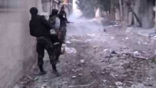getlinkyoutube.com-Syria War: Terrorists Insane Heavy Firefight Intense Close Combat Action With Enemy Visible